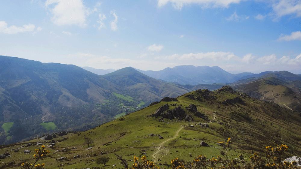 montagne, espelette, balade, pays basque